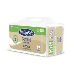 BulkySoft® Comfort Papier-Falthandtuch Z-Falz, 2-lagig, Handtuchpapier aus 100% recycling Papier, 1 Packung = 12 x 200 = 2.400 Tücher