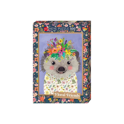 Huch! Puzzle Puzzle Funny Hedgehog, Floral Friends by Mia, Puzzleteile