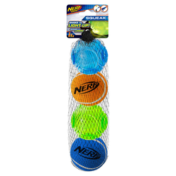 Nerf Dog LED TPR Tennisbälle 4er-Set