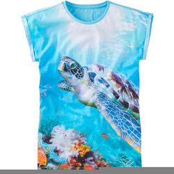 T-Shirt Fotoprint, blau, Gr. 176/182 - 176/182 - blau