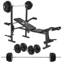 ArtSport Multifunktion Hantelbank Set ProfiGym 1000 & 3in1 Hantelset mit 60 kg Gewichten – Trainingsbank