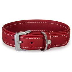 Das Lederband Hundehalsband Barcelona Indian-Red, Länge: 35 cm