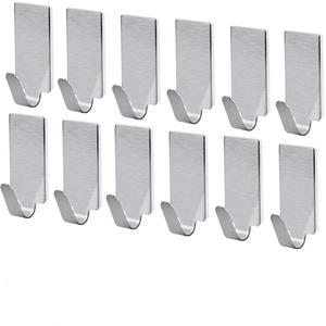 NUOLUX 12st selbstklebend Edelstahl Handtuch Haken Handtuch Racks Wand Haken für Küche Bad
