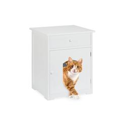 relaxdays Katzenzelt Katzenschrank mit Schublade