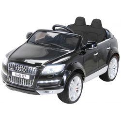 Kinder Elektroauto AUDI Q7 4L Kinderauto Elektrofahrzeug Elektro Spielzeug Auto (Schwarz)