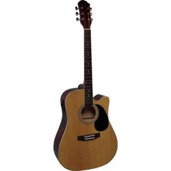 MSA Musikinstrumente CW 195 E-Westerngitarre 4/4 Natur