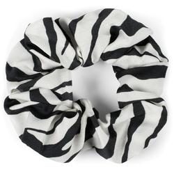 styleBREAKER Zopfhalter Scrunchie Haargummi Zebra Muster, 1-tlg., Scrunchie Haargummi Zebra Muster