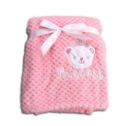 Babydecke Babydecke Freya, Cangaroo, Größe 80 x 110 cm kuschelige Babydecke aus Fleece rosa