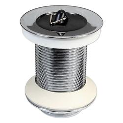 Ablaufgarnitur mit Stopfen für Waschbecken - ohne Überlauf - Länge 60 mm