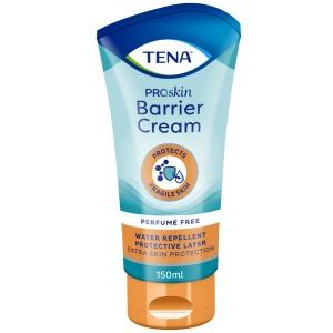 TENA Barrier Cream Hautcreme, Ideal für gefährdete und empfindliche Haut, 150 ml - Tube