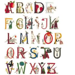 Wall-Art Wandtattoo Kinderzimmer Blumen Alphabet (1 Stück) 32 cm x 40 cm x 0,1 cm