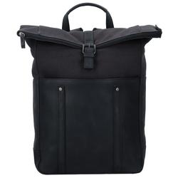 Jost Salo Rucksack Leder 42 cm Laptopfach schwarz