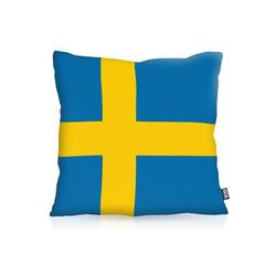Kissenbezug, VOID, Schweden Sweden Flagge Fahne Fan EM WM Fussball 80 cm x 80 cm