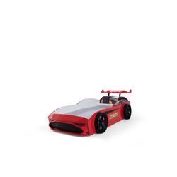 Möbel-Lux Kinderbett GT18, Kinderbett Autobett GT18 Turbo 4x4 mit Spoiler rot