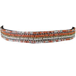 Comair Haarband Perlen lachs/weiß