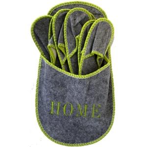 """Gäste-Hausschuh-Set """"HOME"""" Pantoffeln Gästepantoffeln Hauspuschen Hausschuhe-Set"""