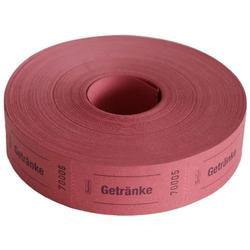 Avery Zweckform Geschirr-Set Wert-Marke 57x30mm 1000 Abrisse pro Rolle versch. (1000-tlg), Papier rot