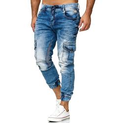 RedBridge Slim-fit-Jeans im Used-Look blau 33