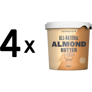(4000 g, 20,71 EUR/1Kg) 4 x (Myprotein Natural Almond Butter (1000g) Smooth)