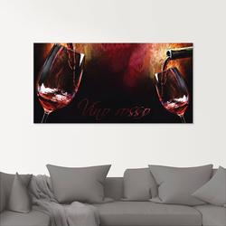 Glasbild »Wein - Rotwein«, Bilder, 31042429-0 rot 60x30 cm rot
