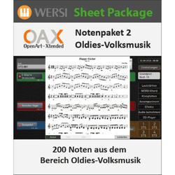 Wersi - OAX Notenpaket 2 Oldies Volksmusik