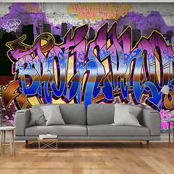 Fototapete Colorful Mural mehrfarbig Gr. 250 x 175