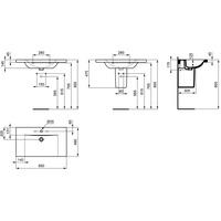 Ideal Standard Connect Waschtisch 85 x 49 cm (E8127MA)