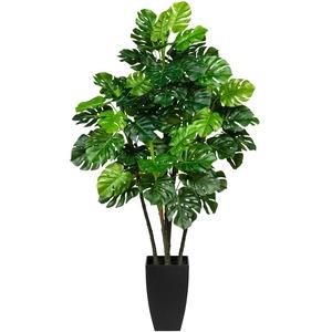 Künstliche Splitphilodendron im Topf  42 Blätter  105 cm