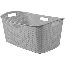 CURVER MY STYLE Wäschekorb, 47 Liter, Aufbewahrungskorb für Wäsche, Farbe: silber