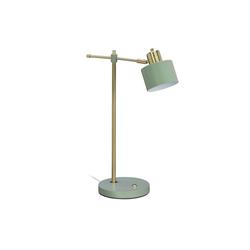 relaxdays Schreibtischlampe Schreibtischlampe gold/grün