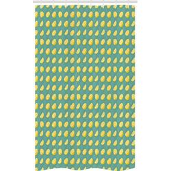 Abakuhaus Duschvorhang Badezimmer Deko Set aus Stoff mit Haken Breite 120 cm, Höhe 180 cm, Zitrone In Scheiben geschnitten und ganze Zitronen Juicy