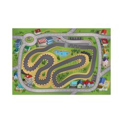 Kinderteppich Spielteppich Stadthafen, 80x120 cm, ACHOKA® grün