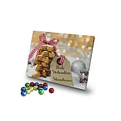 Personalisierter Schoko-Adventskalender (Typ: Keksetikett) - Kalender