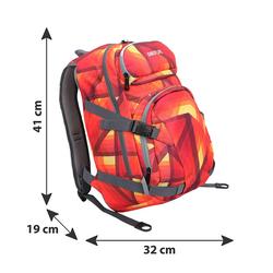 BESTLIFE Rucksack MERX rot/orange mit Laptopfach bis 15,6 Zoll
