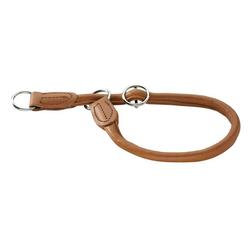 Hunter Hunde-Halsband Elchleder Round & Soft, Elchleder braun 1 cm x 45 cm