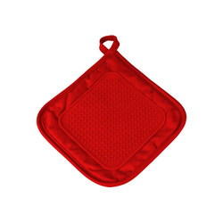 One Home Topflappen Topflappen Basic, (1-tlg), mit Silikon rot