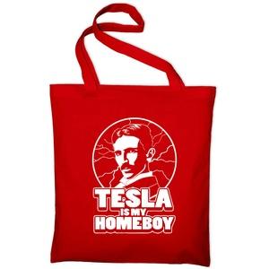 Nikola Tesla Is My Homeboy Jutebeutel Erfinder Inventor Science Wissenschaft Fun