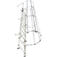 HAILO Steigleiter mit Rückenschutz VAM-35 Edelstahl 9,80m