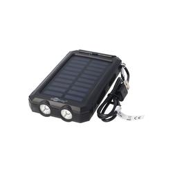 Goobay Outdoor Powerbank 8000mAh mit Solarpanel und Tasch Powerbank