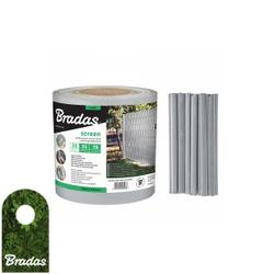 Zaunband 19cmx35m grau Zaun- Palisadenband Sichtschutz Lärmschutz BRADAS 0292