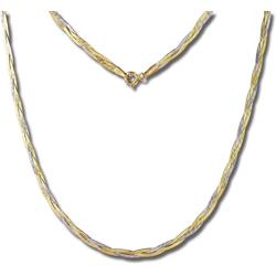 GoldDream Goldkette GDK00045T GoldDream geflochten Halskette Damen (Halsketten), Halsketten (geflochten) ca. 45cm, 333 Gelbgold - 8 Karat, 333 Weißgold - 8 Karat, Farbe: gold