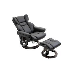 HOMCOM Massagesessel Massagesessel mit Fußhocker schwarz