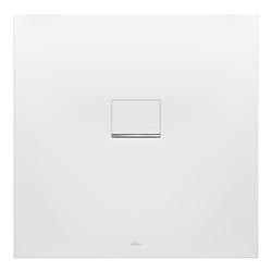 Villeroy & Boch Squaro Infinity Duschwanne Quaryl® 100 x 100 x 4 cm… Grau (matt)