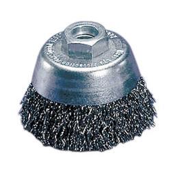 LESSMANN Topfbürste Drahtbürste Stahldrahtbürste Bürste f. Winkelschleifer - Größe:80.0 mm, Variante:Messing