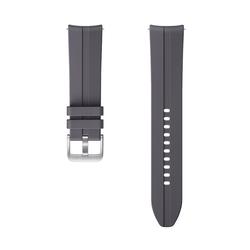 Samsung ET-SFR84 Band Grau Galaxy Watch3 Fluor-Elastomer Silber Ridge Sport Armband 22 mm Stegbreite (ET-SFR84LJEGEU)