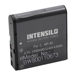 INTENSILO Li-Ion Akku 1250mAh (3.7V) für Videokamera Camcorder Silvercrest DV-1000HD, DV-5300HD wie NP-40, PAC-0040.