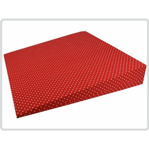Orthopädisches Keilkissen 100 % Baumwollbezug! - Kissen Sitzkissen Sitzkeilkissen Sitzkissen Sitzkeil (Rot mit weißen Punkten)