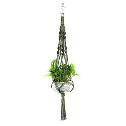 Masbekte Dekohänger, Blumenampel Blumentopf Pflanzen Wohnkultur Topfpflanzgefäß, Höhe ca. 105cm grün
