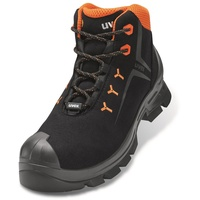 Uvex 2 Arbeitsstiefel - Sicherheitsstiefel S3 SRC ESD - Orange-Schwarz, Größe:49