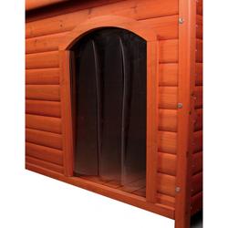 Trixie Kunststofftür für Hundehütten, Maße: 24 x 36 cm